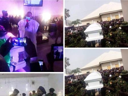 Former Speaker, Yakubu Dogara buries father-in-law in Bauchi [Photos]