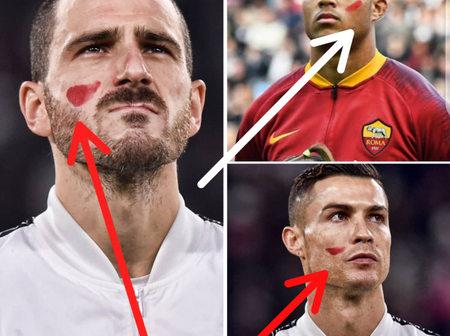 Have you noticed the red mark on the faces of Italian players? See what it means (PHOTOS)