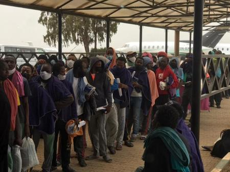 PHOTOS: 255 Nigerians stranded in Saudi Arabia for years rescued, land in Nigeria