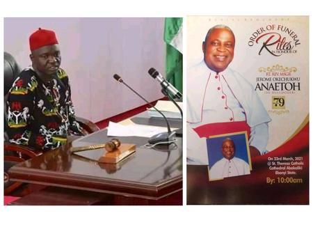 As Rev. Fr.  Anaetoh Is Laid To Rest in Abakiliki, Check Out What Speaker of EBSHA Said About Him