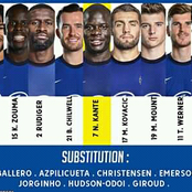 Lampard Finally Releases Official Chelsea Starting XI Squad against Rennes