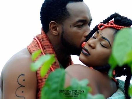Photos of Destiny Etiko Kissing and Playing With Pete Edochie, Mr Ibu, Chiwetalu Agu and Many Others