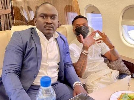 Wizkid & His Gang Were Captured Inside A Private Jet Heading To Mali