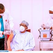 Check Out Some Pictures Of President Buhari Receiving His Covid19 Vaccine