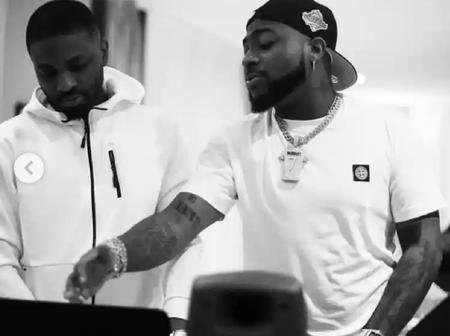 Reactions as Davido shares cool photos of himself working on his next project in Accra, Ghana