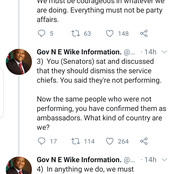 Governor Wike Sends Open Letter To The Senate For Confirming Ex-Service Chiefs As Ambassadors