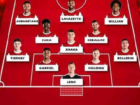 Arsenal Possible Lineup Against Leicester City On Sunday (25/10/2020) At Emirates Stadium
