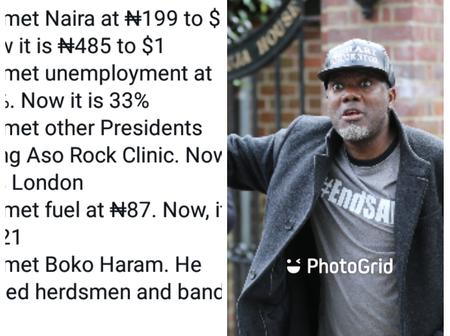 Reno Omokri Reveals 5 (Five) Things That Has Gotten Worse Since Buhari Took Over Power In 2015.