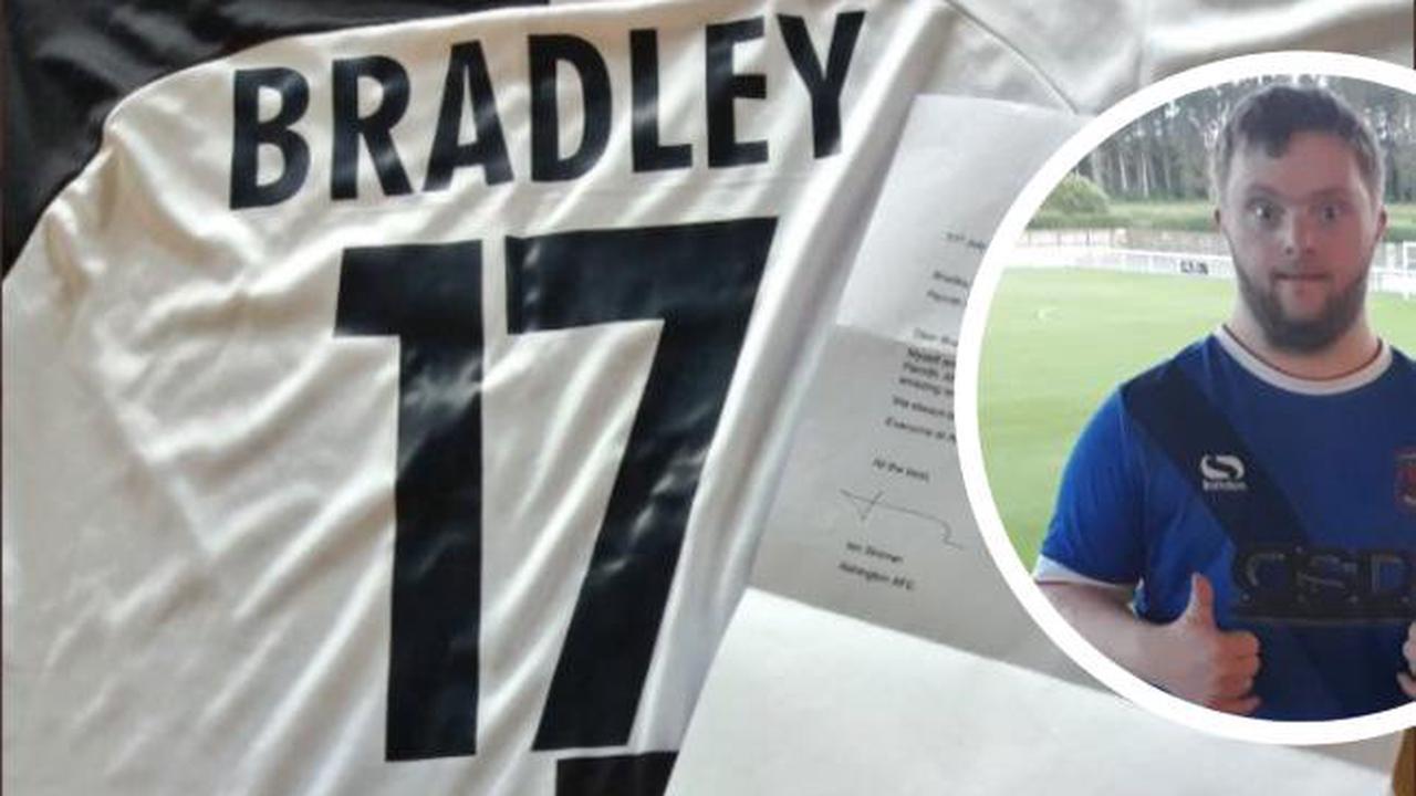 Ashington FC's brilliant gesture to retiring Penrith AFC mascot Bradley Hodgson
