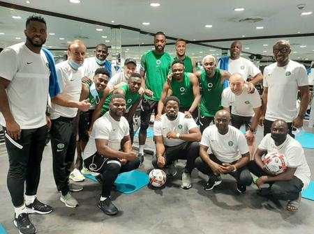 Latest photos from Super Eagles camp that shows they are the most fashionable team in Africa