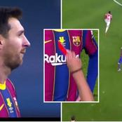 Messi Sent Off For The First In Barcelona As They Lost 3-2 In Super Cup Final