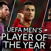 Ronaldo In 10th Place, Messi In 4th Place:See The Player Who Might Win UEFA Men's Player Of The Year