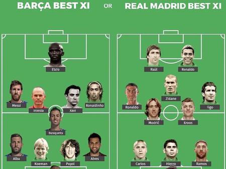 Barcelona Best XI And Real Madrid Best XI Players For Each Position