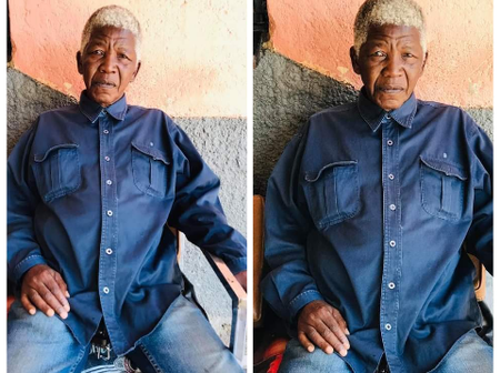 The Man Looks like Mandela He's allegedly claiming that he's Mandela - people can't believe this