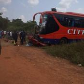 Yamoussoukro: une collision entre un car et un véhicule de tourisme fait 1 mort et 2 blessés