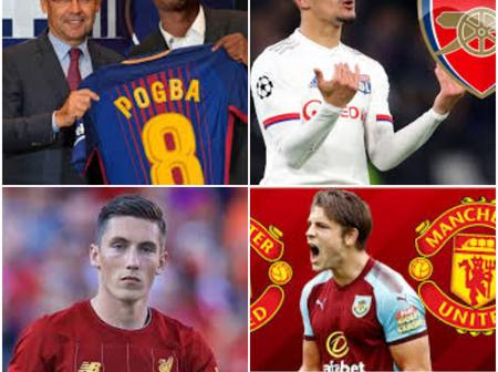 Wednesday Morning Transfer News: Paul Pogba To Barcelona As Man UTD Set To Sign James Tarkowski