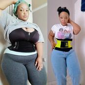 Lady Causes Stir Online After She Posted Her Before And After Photos Showing Her Massive Weight Loss