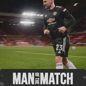 Defender Announced by Manchester United as Man of the Match after Brilliant Display