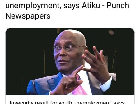 Attack On Governor Ortom, Insecurity Result For Youth Unemployment, Atiku Said.