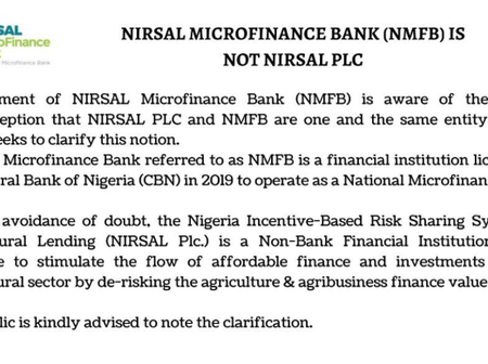 Know The Difference Between NIRSAL Microfinance Bank And NIRSAL Plc To Avoid Being Scammed