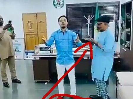 See What Abia State Governor's Chief-of-Staff Was Filmed Doing With Prophet Odumeje in His Office