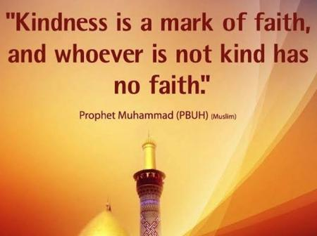 Kindness is a mark of faith and the best attribute a believer will have is  forgiveness
