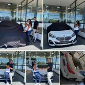 A Limpopo man surprised his wife for buying her a brend new BMW car that got people talking //Photos