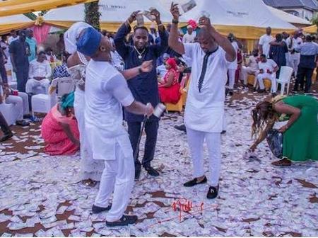Top Nigerian Celebrities Who Spray Bundle Of Cash At Parties (watch videos)