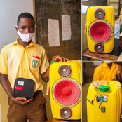 A JHS student made a sound system with Bluetooth technology using waste gallons.
