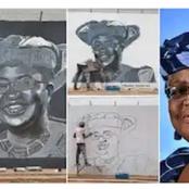 A Nigerian Artist Honours Ngozi Okonjo-Iweala With His Drawings (Photos)