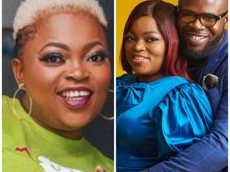 Funke Akindele Shows Off Her Lovely Husband Riding A Bicycle, Calls Him My Boo