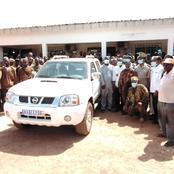 La confrérie Dozo de Sinématiali reçoit un véhicule de patrouille flambant neuf