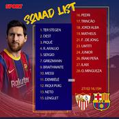 A major surprise as Barcelona top midfielder did not make the squad list to face sevilla