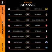Official Round Of 16 UEFA Europa League Draws And Date Of Kick Off