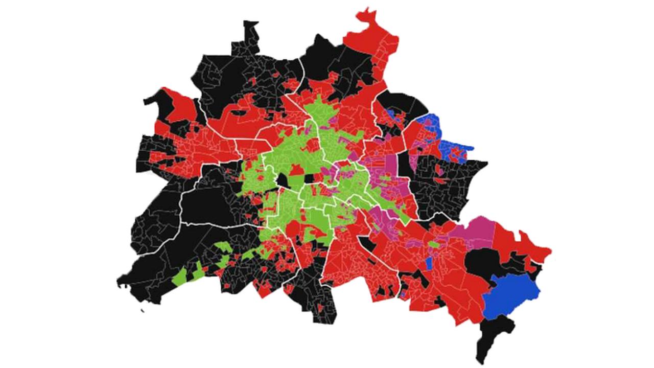 Wo die Parteien in Berlin ihre Hochburgen haben - und wo nicht