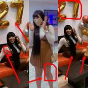 Is Erica Nlewedim 27 Already ? See These Photos Of Her With A Cake And Gifts.