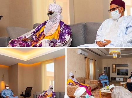 Former Emir Of Kano, Sanusi meets with New President of Niger Republic [Photos]