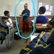 Take a gander at the new teacher who Started a response from Mzansi