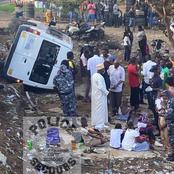 Cocody - Angré : un mini car rempli d'élèves se renverse sous le pont Soro