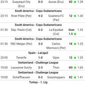Seven(7)Soccer Picks With Correct Score(CS) And GG VIP Matches To Bank On This Saturday 10th