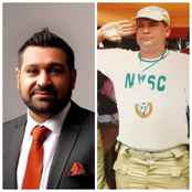Reactions As White-Nigerian Flaunts NYSC Outfit