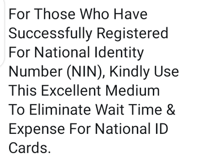 Get Your Plastic National ID Card Through This Means