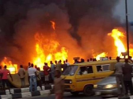 Destruction Of Offices As Nigerian Immigration Service Caught Fire In Abuja
