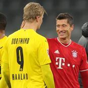 Erling Haaland reacts to Robert Lewandowski's powerful hat-trick against his side in Der Klassiker