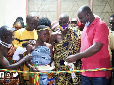 Hon. Isaac Kwame Asiamah Commissioned Anwiafutu Health Centre.