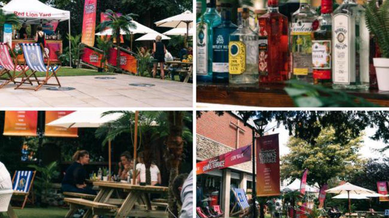 Lion Walk in Colchester relaunching Summer Drinks Terrace on Friday