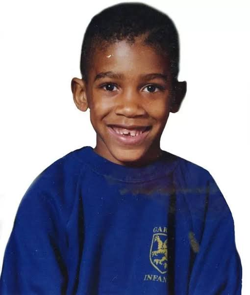 Childhood photo of Anthony Joshua