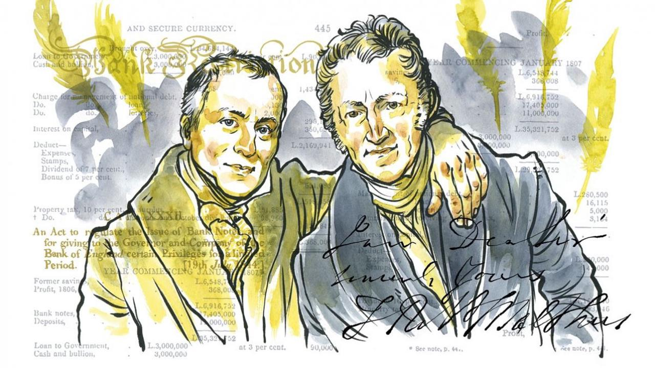 David Ricardo et Thomas Malthus: les potes