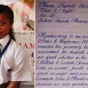 See The 17yrs Old Girl With The Finest Handwriting in the World
