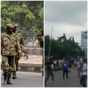 See how Military Men are chasing protesters today in Abuja to distract them from protesting